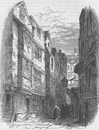 LINCOLN'S INN. Serle's Place, before its demolition. London c1880 old print